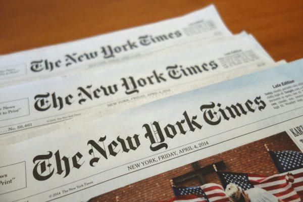 The New York Times là một trong những đầu báo bằng tiếng Anh bạn nên tham khảo