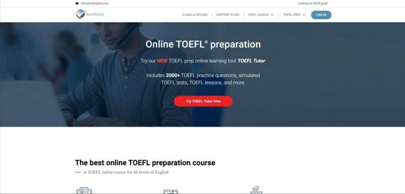 Trang chủ trang web học TOEFL iBT - BestMyTest