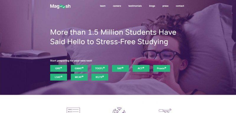 Trang chủ website Magoosh